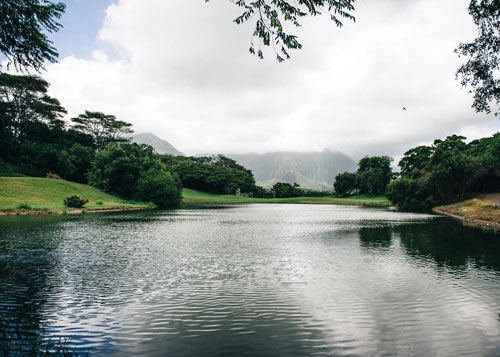 A lake at Bay View Golf Course in Kaneohe